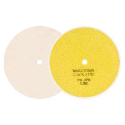 Quick Step 6 in. GR Cotton Polishing Felt Discs (Pack of 5)