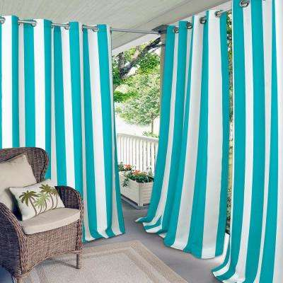Aiden Stripe 50 In W X 84 L Indoor Outdoor Grommet Window