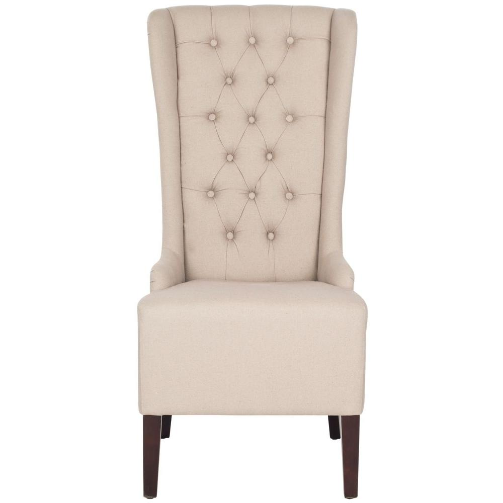 High Quality Safavieh Bacall Taupe Linen Dining Chair