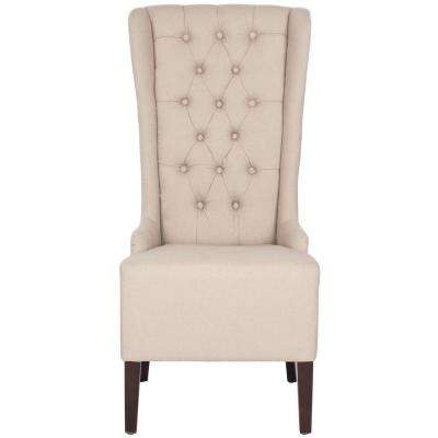 Bacall Taupe Linen Dining Chair