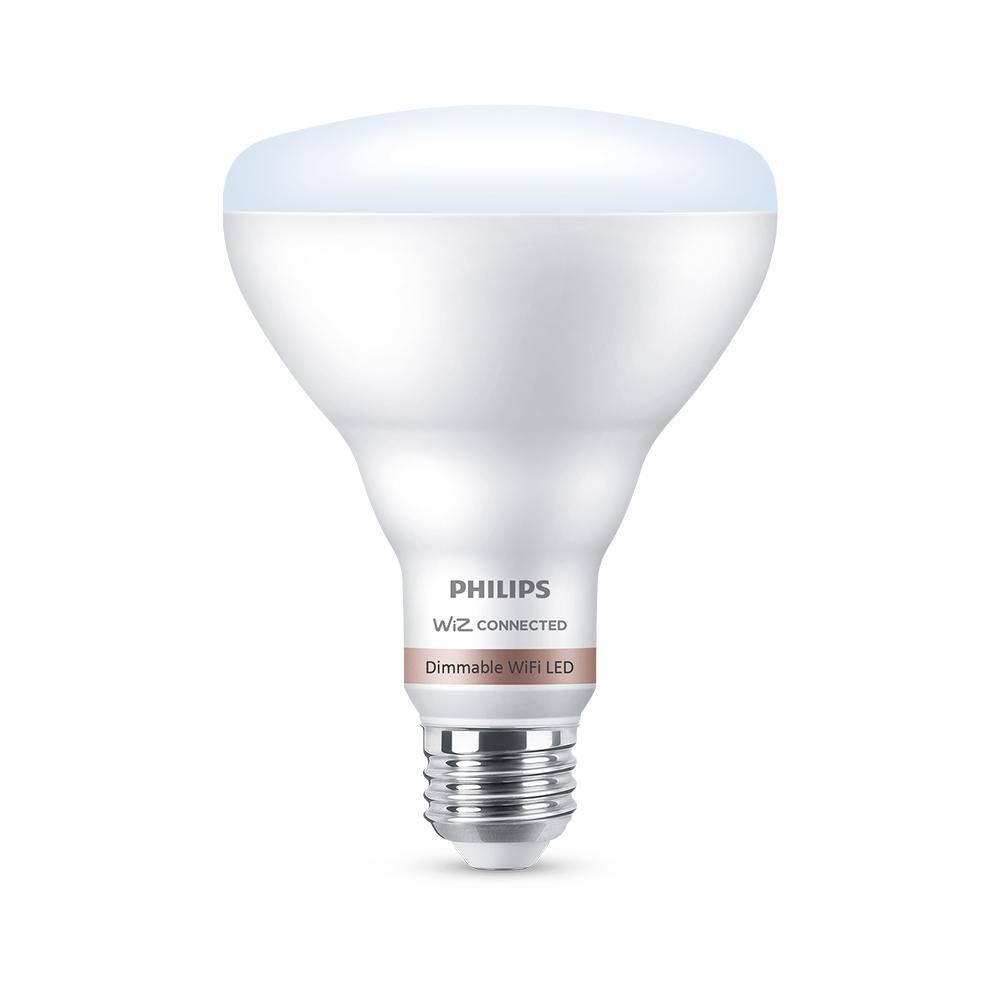 Philips Daylight BR30 LED 65W Equivalent Dimmable Smart Wi-Fi Wiz Connected Wireless Light Bulb