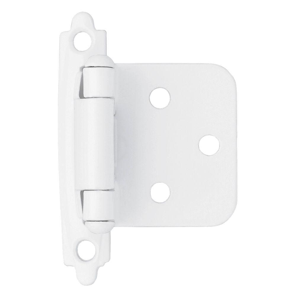 white kitchen cabinet hinges liberty white self closing overlay hinge 1 pair h0103ac 28630