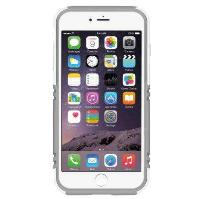 Hardshell Case with Stand Designed for iPhone 6 Plus - White/Gray
