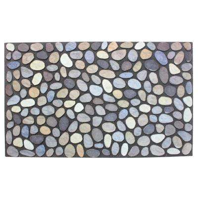 18 in. x 30 in. Flocked Pebbles Door Mat