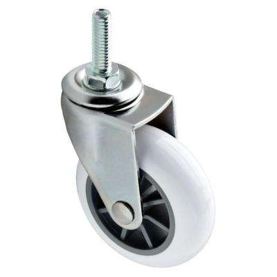 2-1/2 in. White Swivel Stem Caster with 130 lb. Load Rating