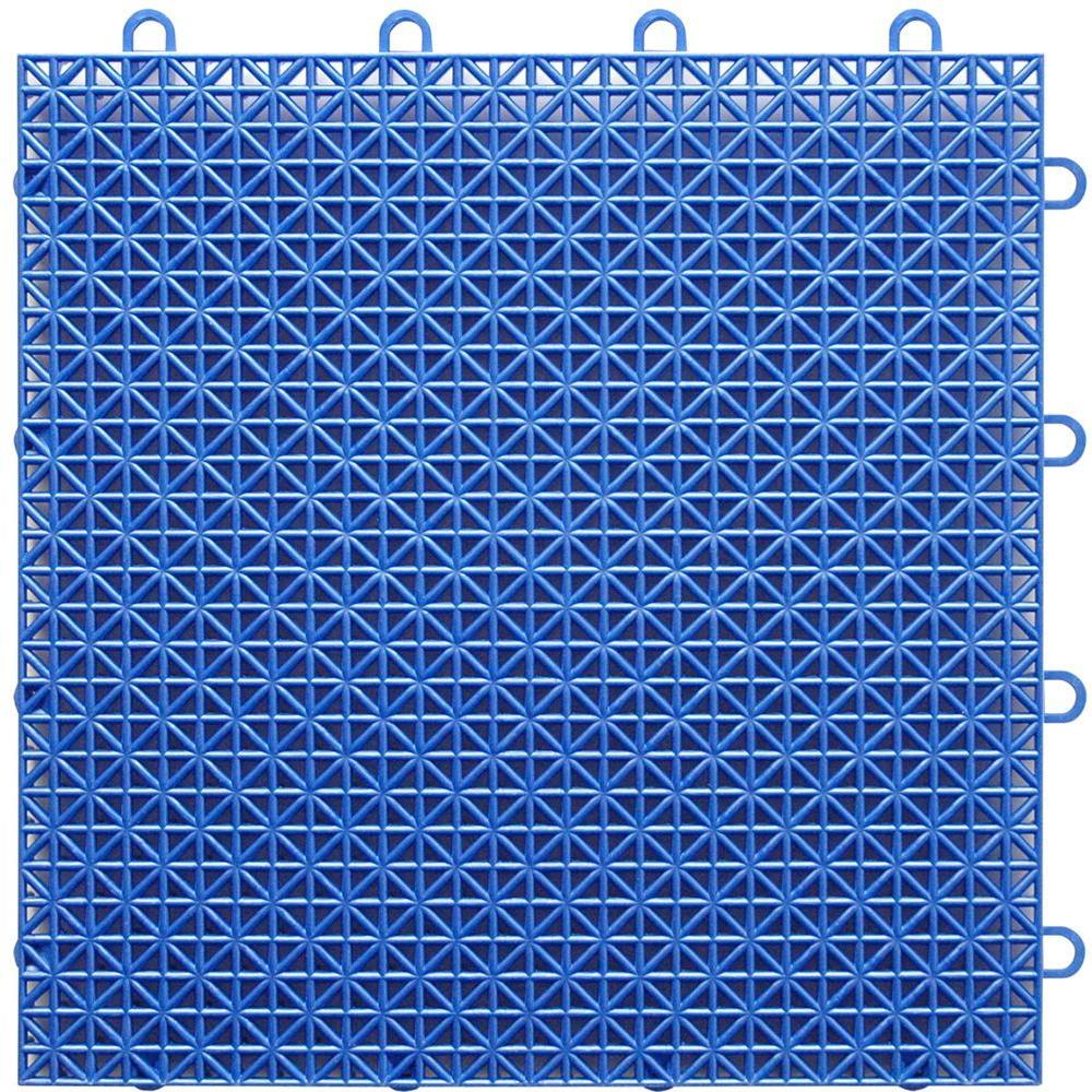 TopDeck Bright-Blue Polypropylene 1ft. x 1ft. Deck Tile (40 - Case)
