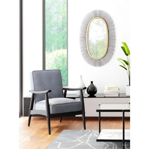 Zuo Winslett 48 In Clear Matte Black Stone Large Rectangle Glass Coffee Table With Shelf 100995 The Home Depot