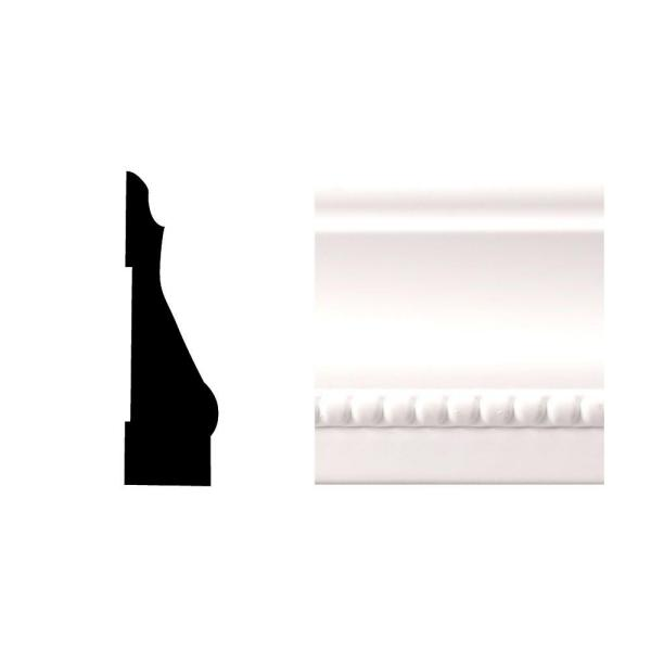 Creation Series 6614 9/16 in. x 2-1/4 in. x 84 in. PVC Composite White Colonial Casing Moulding