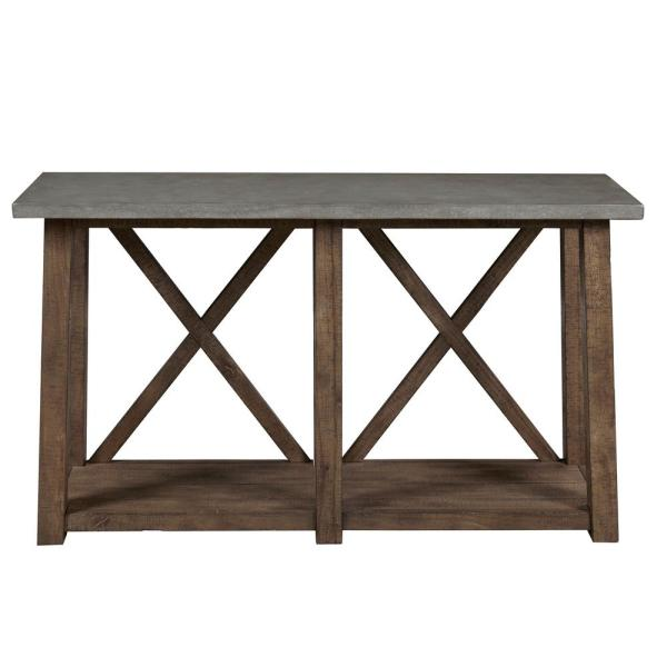 Farmhouse Style Distressed Sofa Table