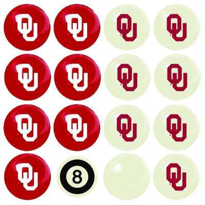 University Of Oklahoma Home Versus Away Billiard Ball Set