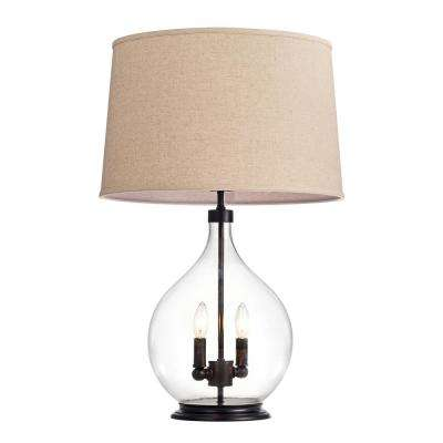 Switha Glass 3-light Table Lamp