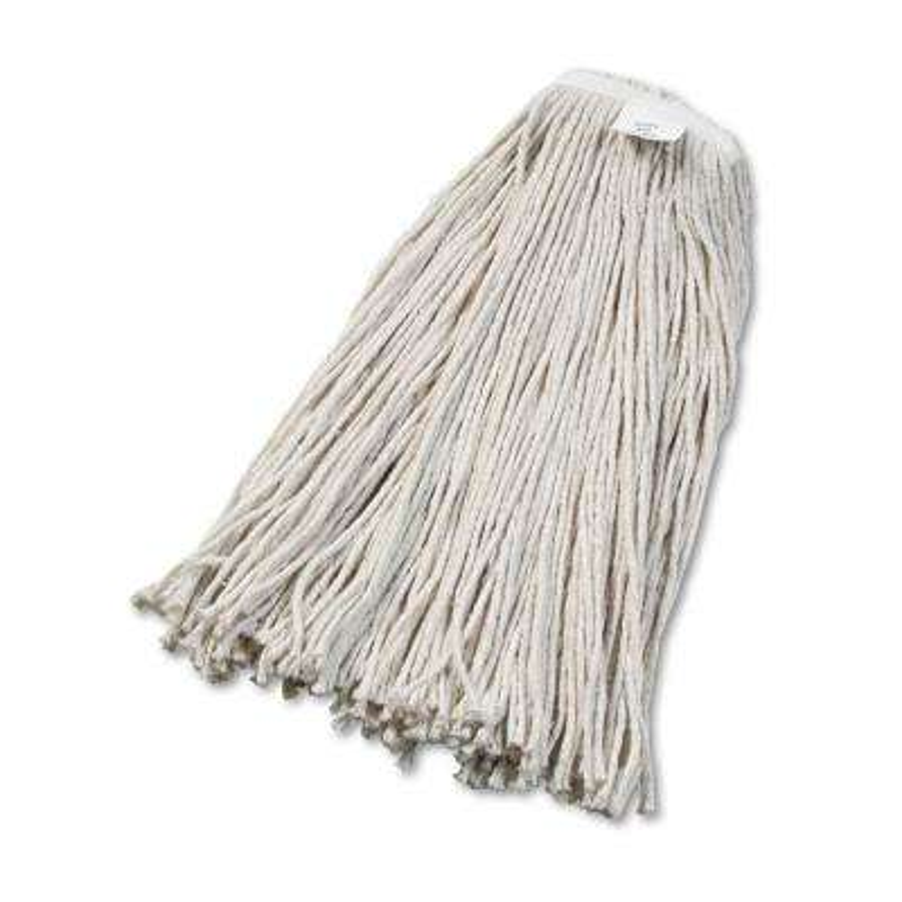 Cut-End Wet Mop Head, Cotton, No. 32, White, 12/Carton