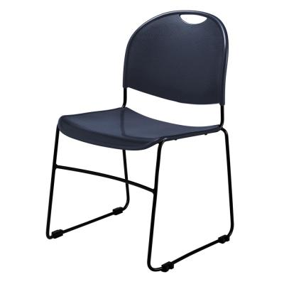 Navy Blue Multi-purpose Ultra Compact Stack Chair (4-Pack)
