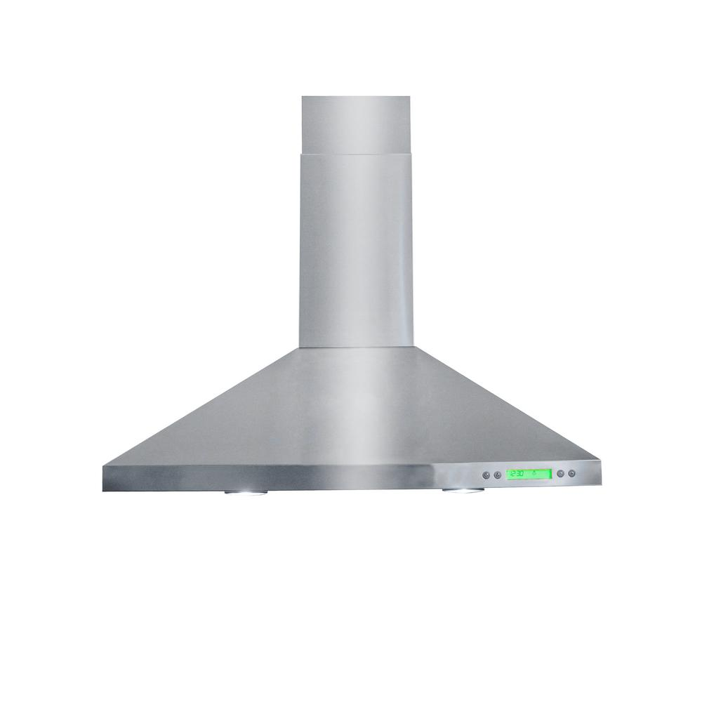 Veneto 30 in. Wall Mounted Decorative Chimney Range Hood in Stainless