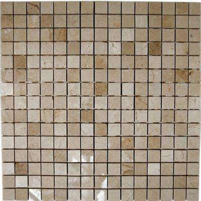 Crema Marfil Squares 12 in. x 12 in. x 8 mm Marble Floor and Wall Tile