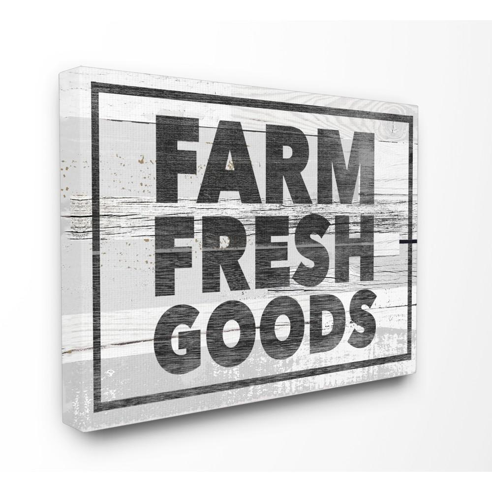 "24 in. x 30 in. ""Farm Fresh Goods Distressed Wood"" by"