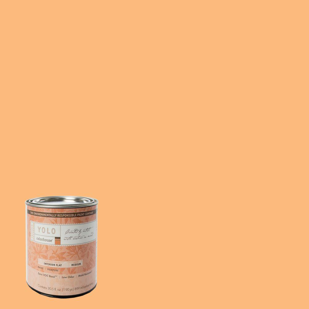 YOLO Colorhouse 1-Qt. Sprout .02 Flat Interior Paint-DISCONTINUED
