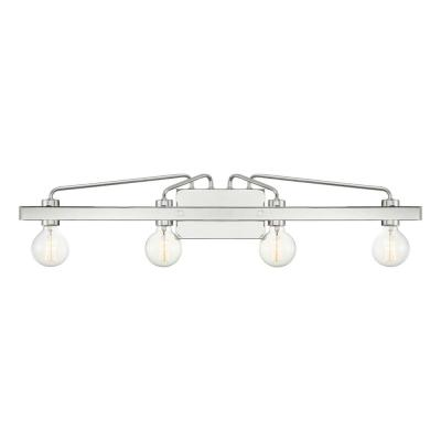 Ravella 4-Light Polished Nickel Vanity Light