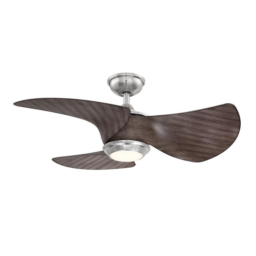 Home Decorators Collection Miraval39 in. LED Brushed Nickel Ceiling Fan with Light