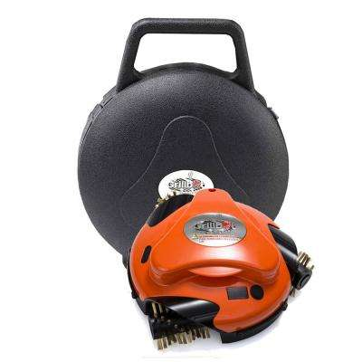 Orange Grill Cleaning Robot with Carry Case