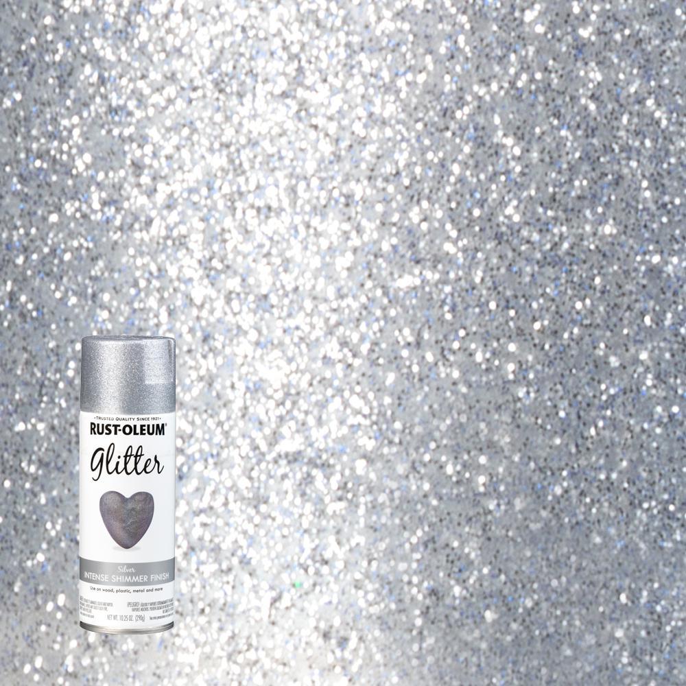Rust Oleum Specialty 10 25 Oz Silver Glitter Spray Paint