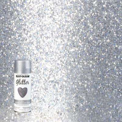10.25 oz. Silver Glitter Spray Paint