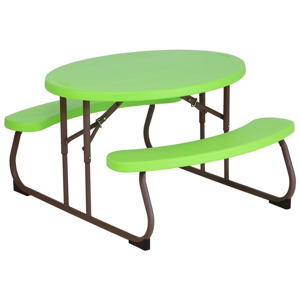 Lime Green Children's Picnic Table
