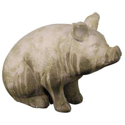 11.5 in. Wilbur Sitting Pig Accent Statue