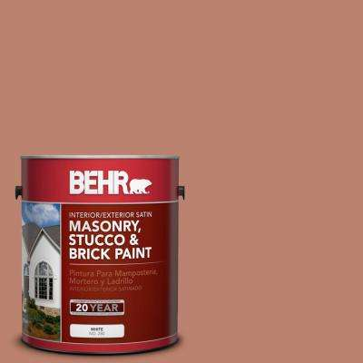 1 gal. #PFC-13 Sahara Sand Satin Interior/Exterior Masonry, Stucco and Brick Paint