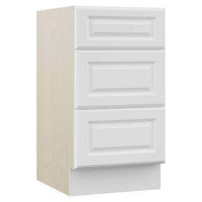 Cambridge 18 in. W x 21.5 in. D x 33.5 in. H Bath Vanity Cabinet Drawer Bank in White