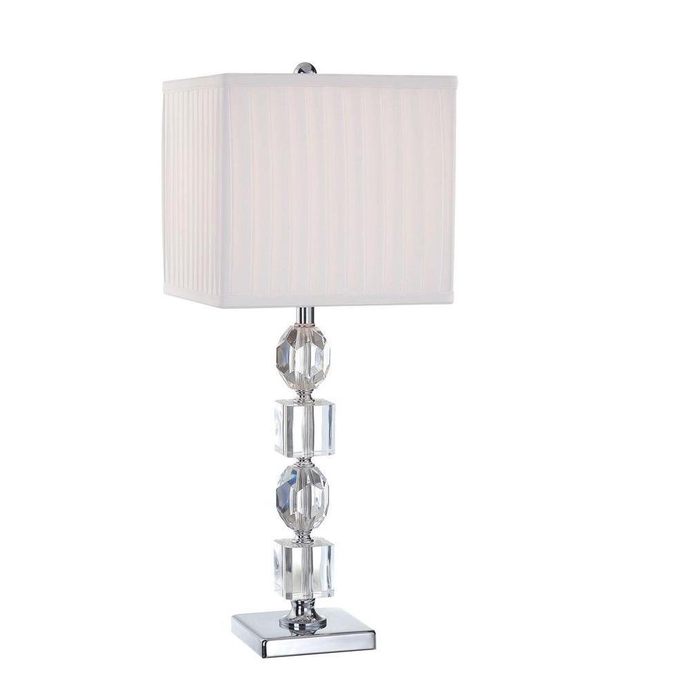 Illumine 24 in. Chrome Table Lamp