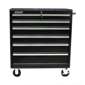 Click here to buy Excel TB2608-X 36 inch 7 Drawer Roller Cabinet Tool Chest, Black by Excel.