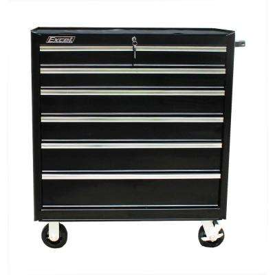 TB2608-X 36 in. 7 Drawer Roller Cabinet Tool Chest, Black