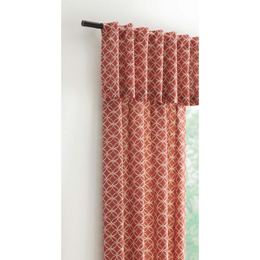 Home Decorators Collection 15 In L Polyester And Cotton Valance In Terracotta Calypso 804 409