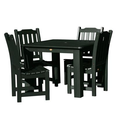 Lehigh Charleston Green 5-Piece Recycled Plastic Square Outdoor Dining Set