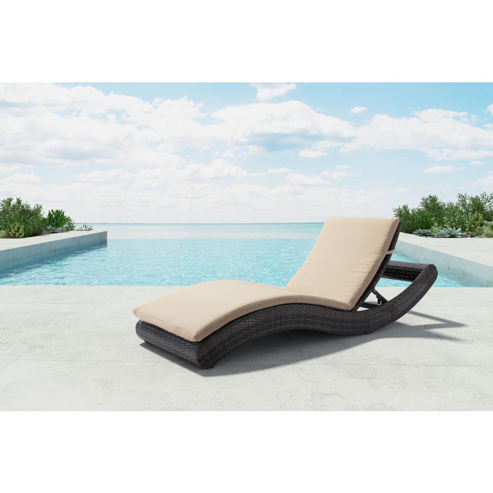 Zuo pamelon beach aluminum outdoor chaise lounge with for Beach chaise lounger