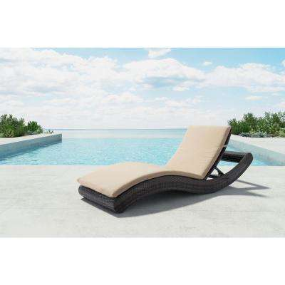 Pamelon Beach Aluminum Outdoor Chaise Lounge with Beige Cushion