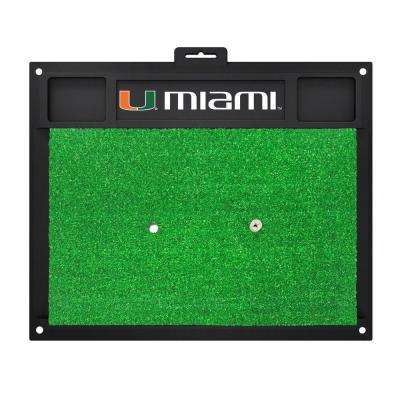 NCAA University of Miami 17 in. x 20 in. Golf Hitting Mat
