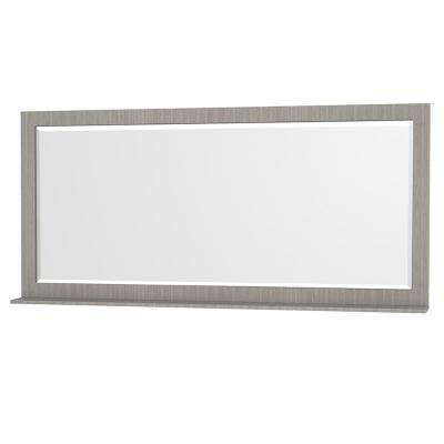 Centra 70 in. W x 33 in. H Framed Wall Mirror in Gray Oak