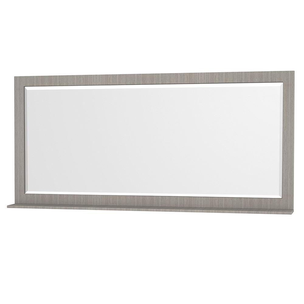 Centra 70 in. W x 33 in. H Framed Wall Mirror in Gray Oak