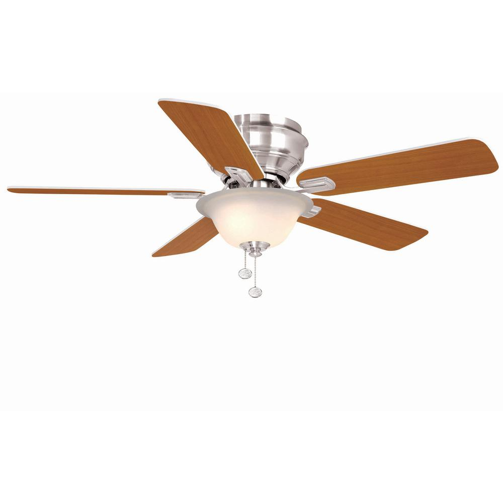 Clarkston 44 In Indoor Brushed Nickel Ceiling Fan With Light Kit Switch Wiring Diagram On Without Hawkins
