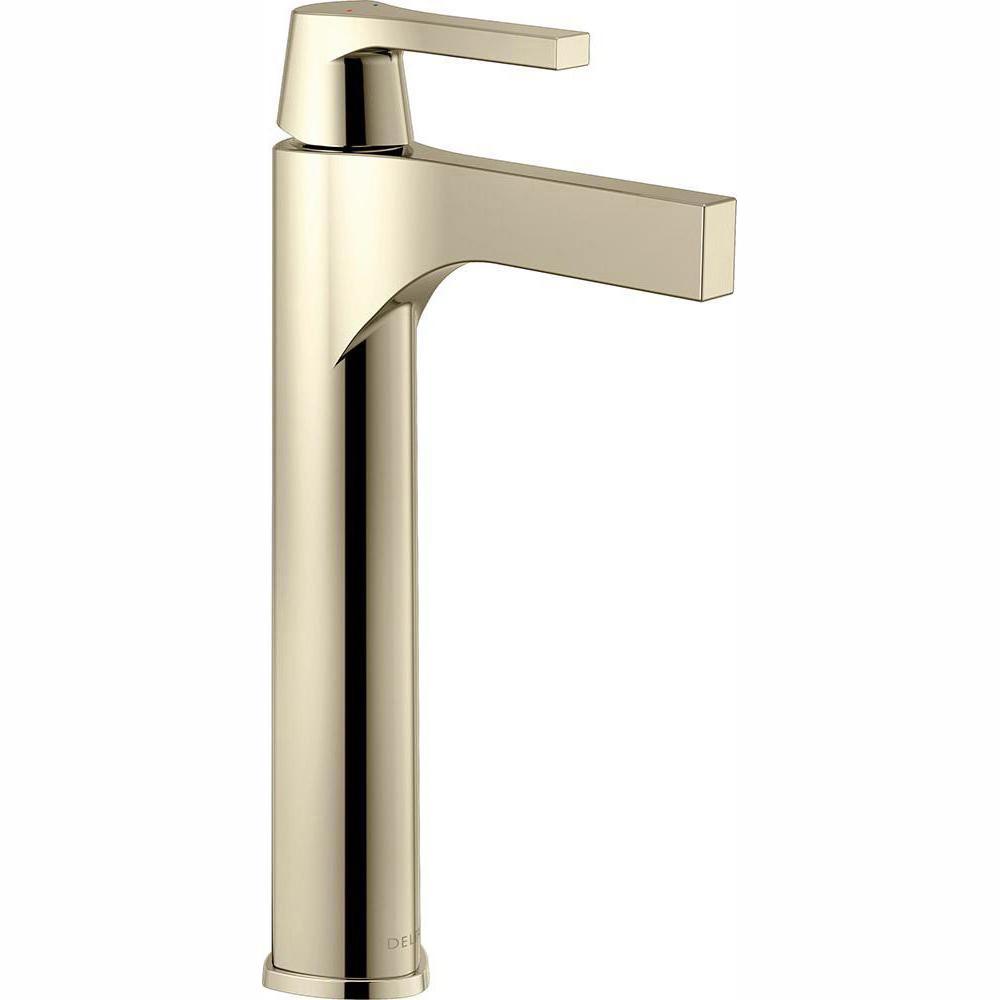Zura Single Hole Single-Handle Vessel Bathroom Faucet in Polished Nickel