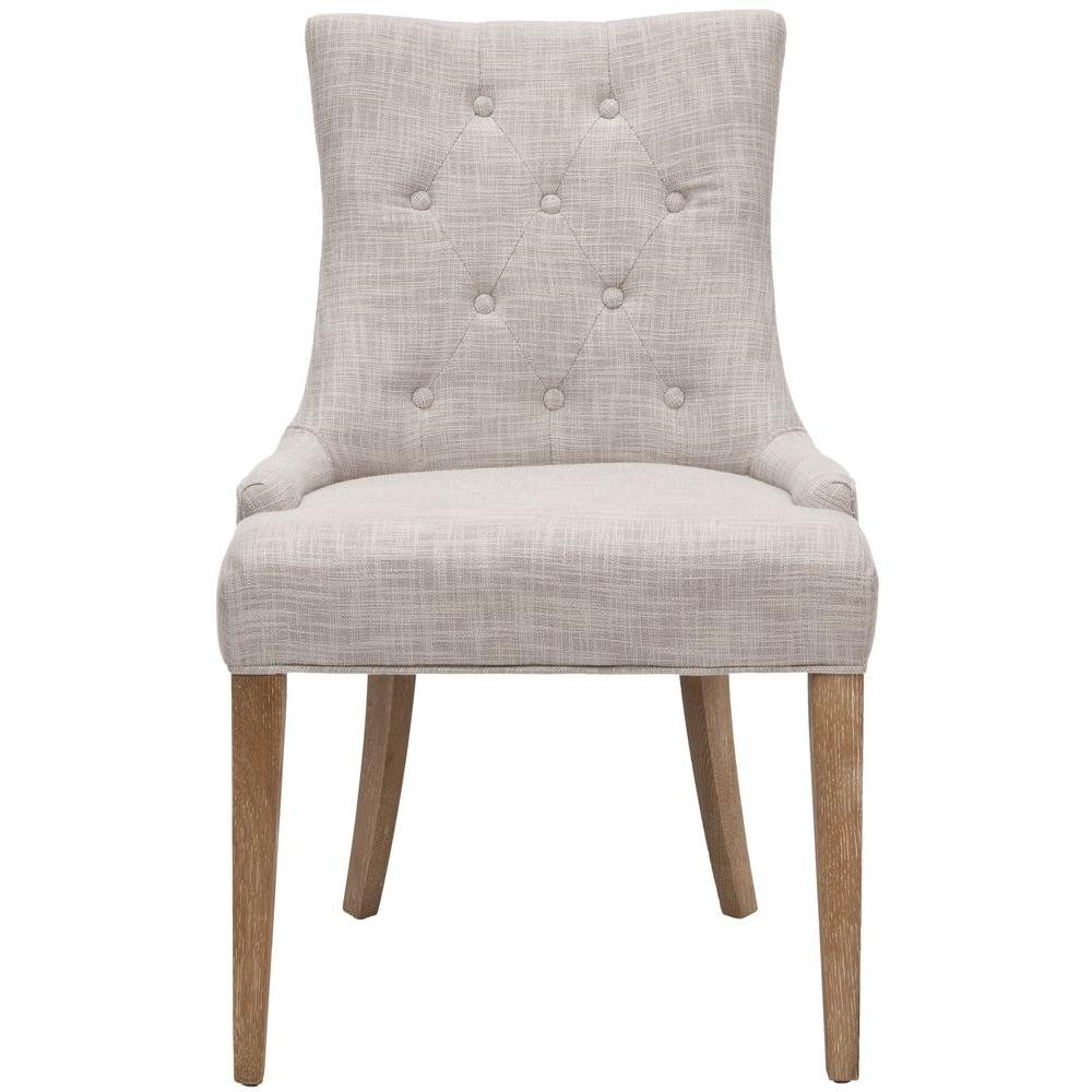 Safavieh Becca Grey Polyester Blend Dining Chair, Gray/Wh...