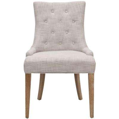 Becca Grey Polyester Blend Dining Chair