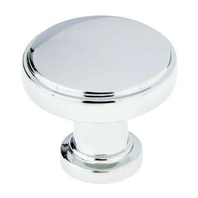 1-11/32 in. Chrome Modern Metal Cabinet Knob