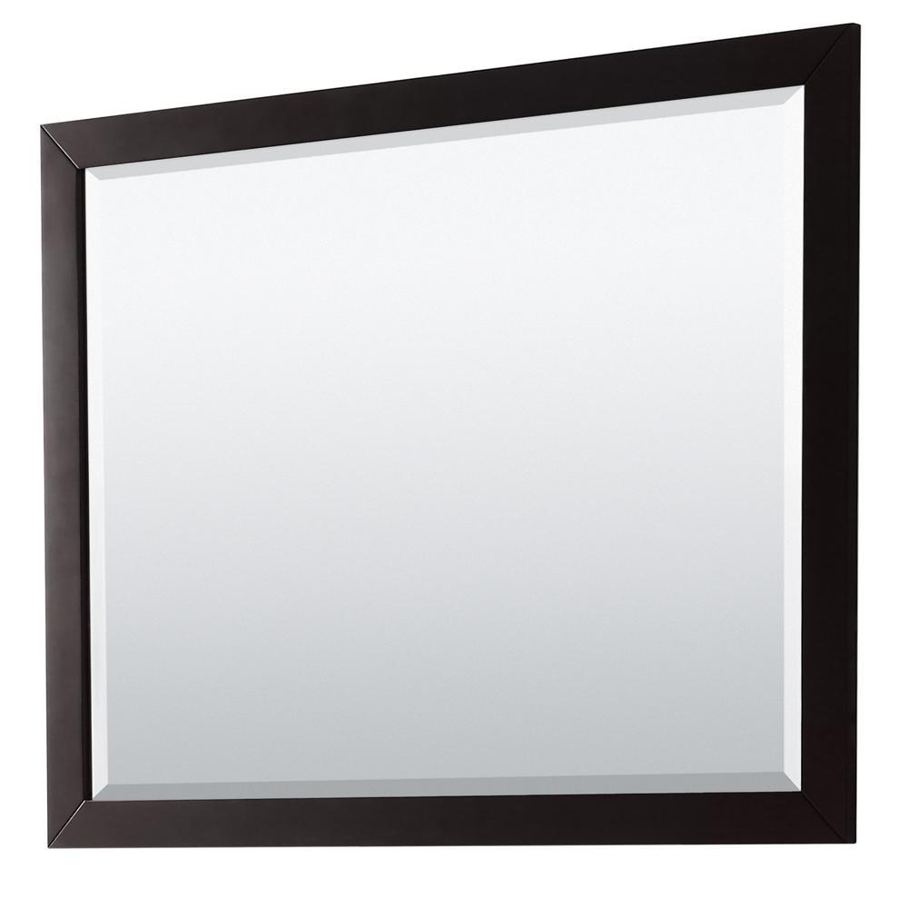 Daria 46 in. W x 33 in. H Framed Wall Mirror in Dark Espresso