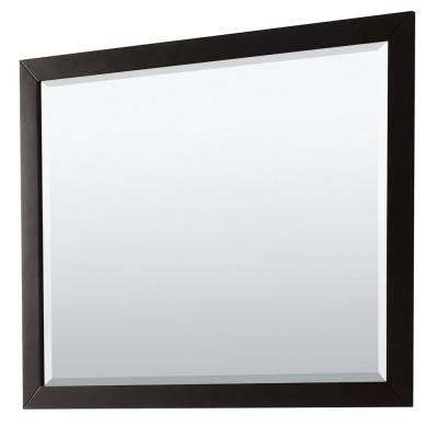 Daria 46 in. W x 36 in. H Framed Rectangular Bathroom Vanity Mirror in Dark Espresso