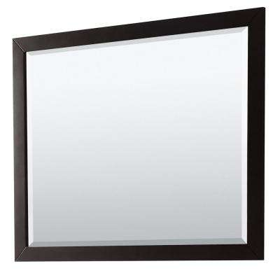 Daria 46 in. W x 33 in. H Framed Wall Mirror in Dark Espresso