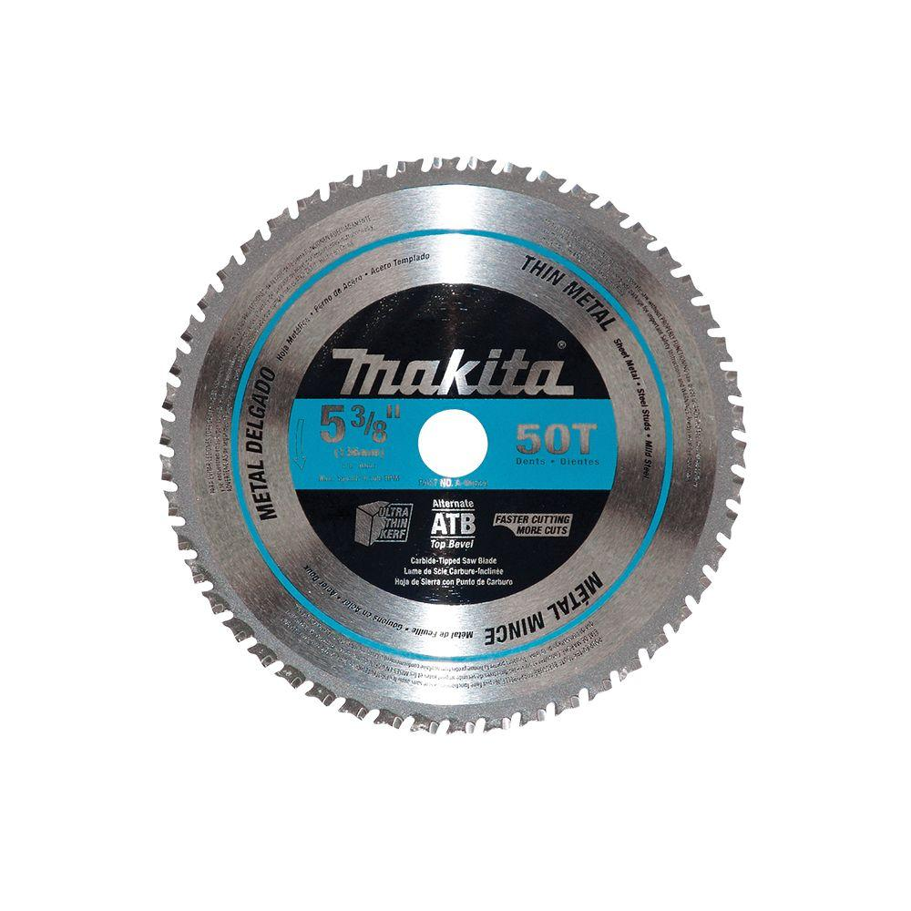 Makita 5-3/8 in. 50 Teeth Carbide-Tipped Ferrous Metal Thin Gauge Saw Blade