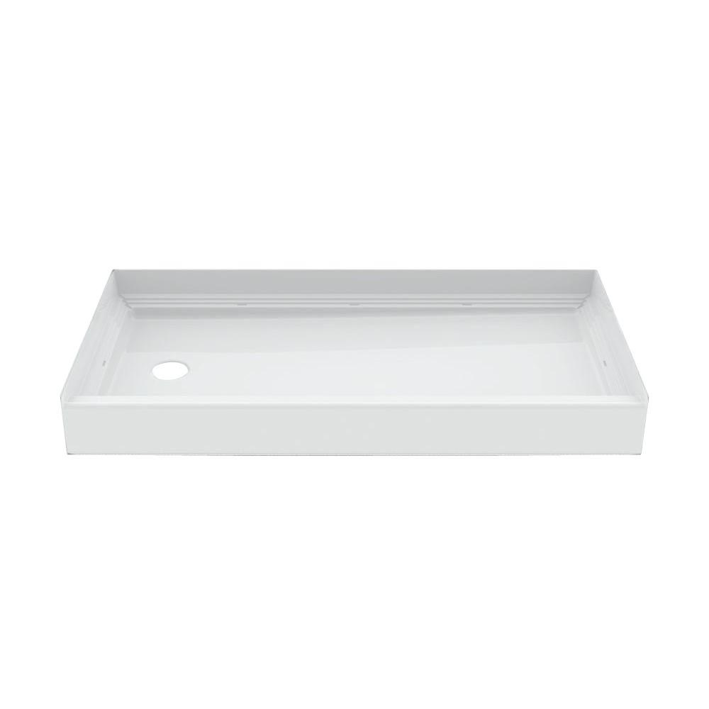 Captivating Aquatic A2 60 In. X 30 In. X 6 In. Left Hand Drain